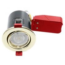 Ignis Fire Rated Downlight Steel GU10 Tilt Brass