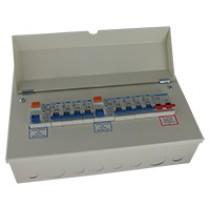 14 Way 100A Isolator 2x80A RCD 8xMCB Metal Consumer Unit
