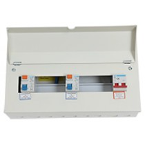 16 Way 100A Isolator 2 x 80A RCD Metal Clad Consumer Unit