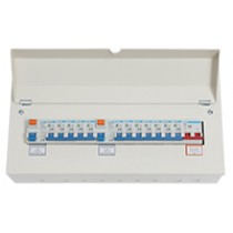 18 Way 100A Isolator 2x80A RCD 12xMCB Metal Consumer Unit