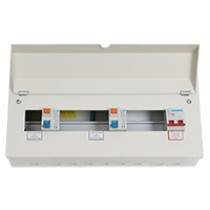 18 Way 100A Isolator 2 x 80A RCD Metal Clad Consumer Unit