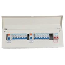 21 Way 100A Isolator 2x80A RCD 12xMCB Metal Consumer Unit