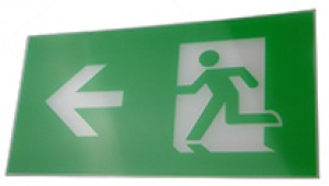 Exit Legend For Exit Box - arrow points left.