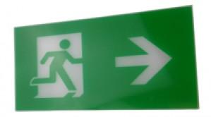 Exit Legend For Exit Box - Arrow points right