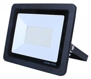 10W SMD AC Floodlight PIR - 3100k - Black