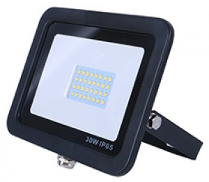 30w SMD AC Floodlight - 3100k - Black