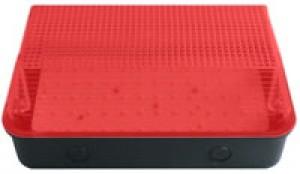 Bulkhead 8W LED Black Base Red Diffuser - 6000K