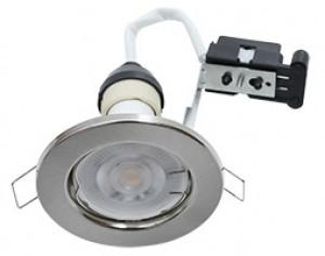 Hoop Downlight Steel GU10 Fixed Satin Chrome