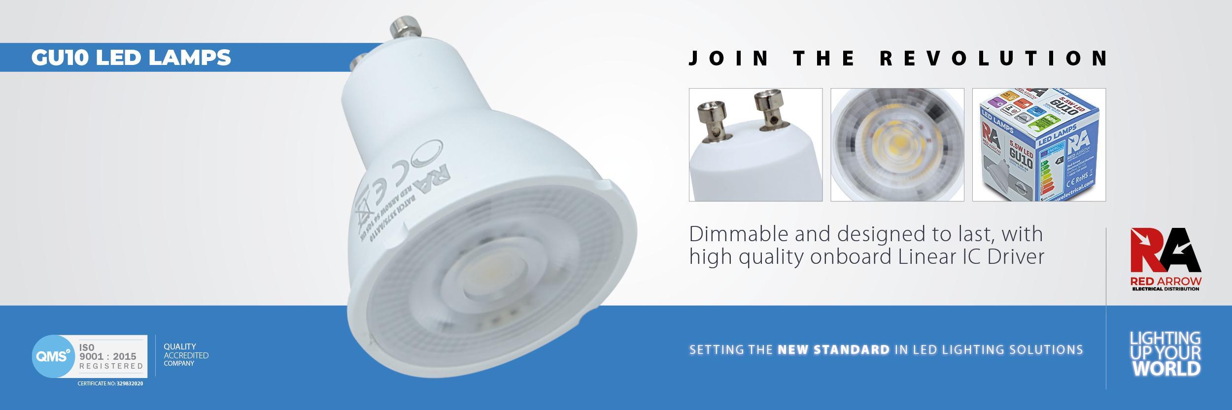 LED GU10 Lamps Web Banner
